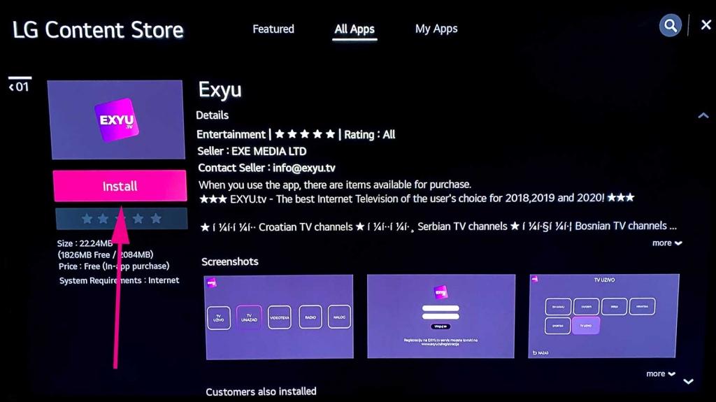 exyu lg smart tv